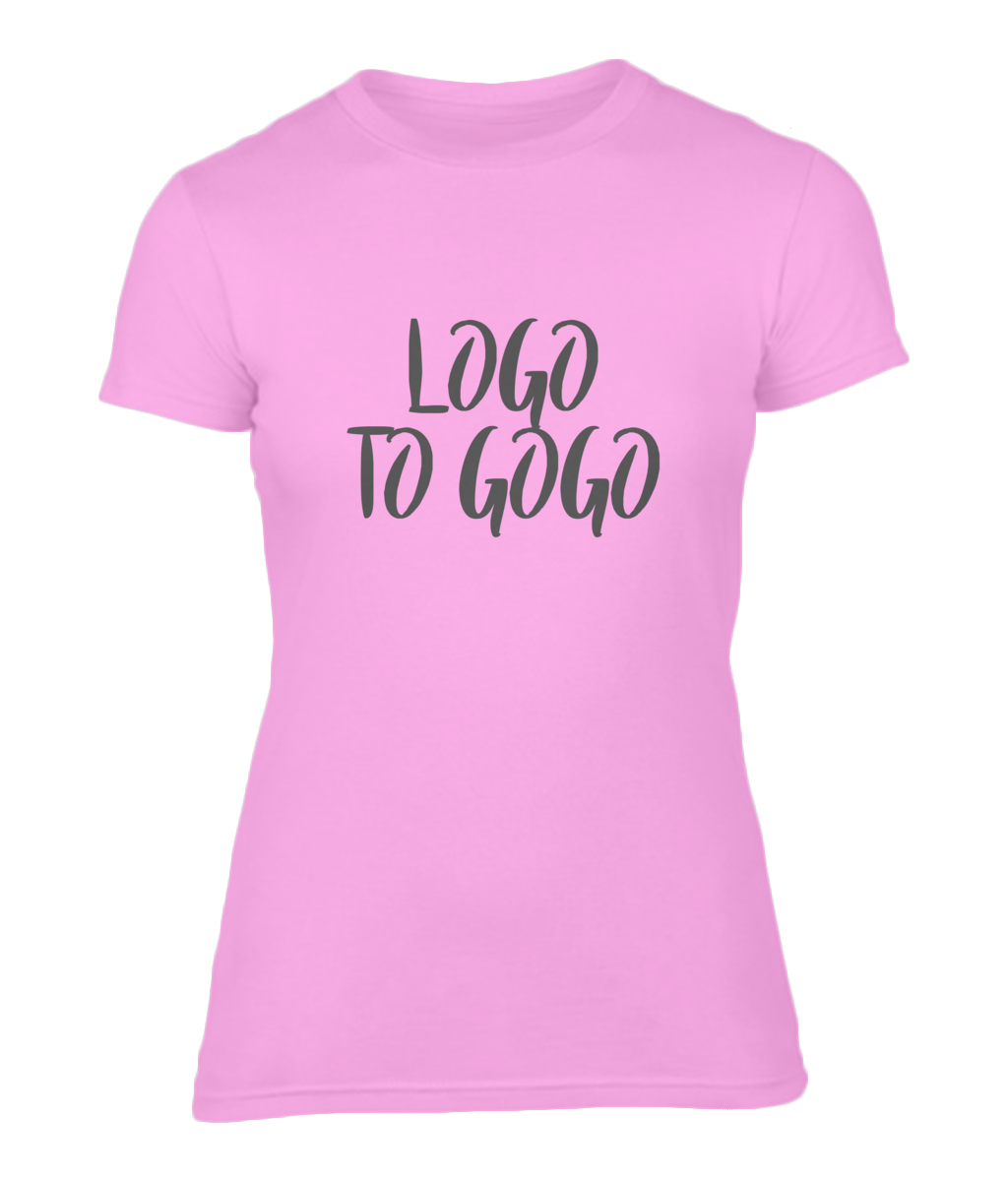 Ladies T-Shirt Logo To GoGo
